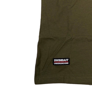 Swimbait Underground X Working Class Zero Elusive Beast Tee - OD Green