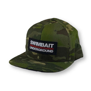 Swimbait Underground Logo Lock Up Patch Hat - Tropic Multicam