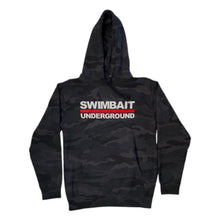 Load image into Gallery viewer, Swimbait Underground Logo Lock Up Hoodie - Black Camo