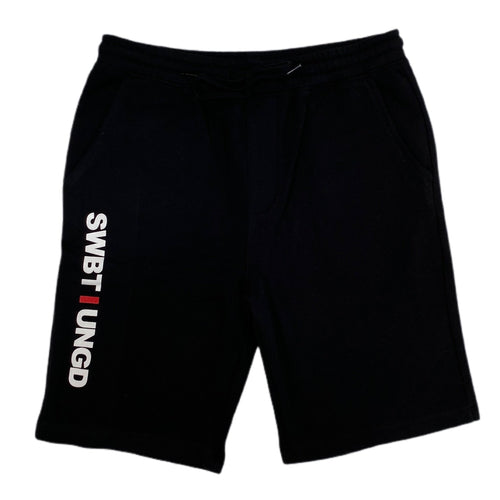 Swimbait Underground Initials Sweat Shorts - Black
