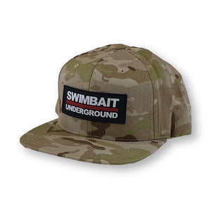 Swimbait Underground Logo Lock Up Patch Hat - Arid Multicam