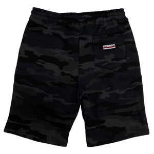 Swimbait Underground Initials Sweat Shorts - Black Camo