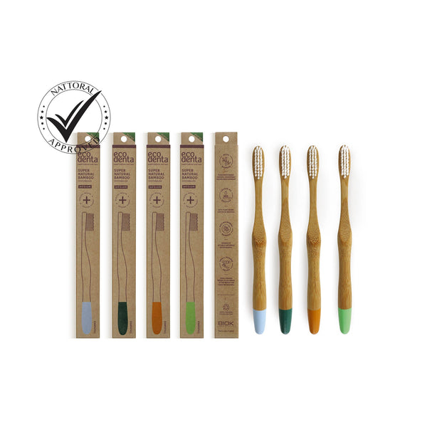 ECODENTA Bamboo Toothbrush-Medium