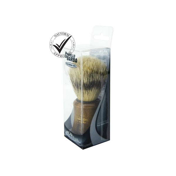 Shaving Brush Wood Handle - Natural Bristle (5783417553059)