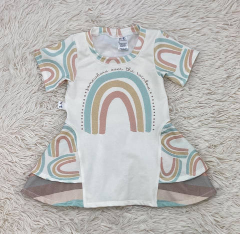 Rainbow Panel Sugar Pea Tunic