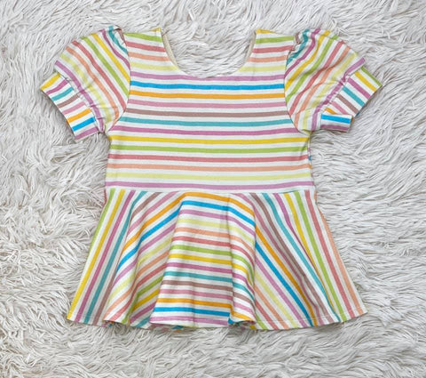 Striped Rainbow Peplum