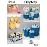 Symønster Simplicity 8859 - Pattern S8859 Organizers | Billede 5