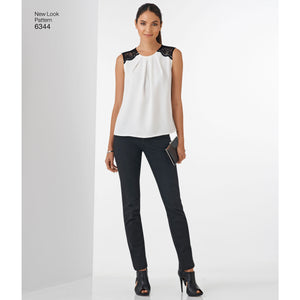 Symønster New Look 6344 - Top - Dame | Billede 1