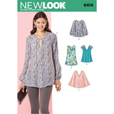 Symønster New Look 6414 - Bluse Top Tunika - Dame | Billede 5