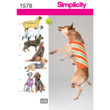 Symønster Simplicity 1578 - Large Size Dog Clothes | Billede 2