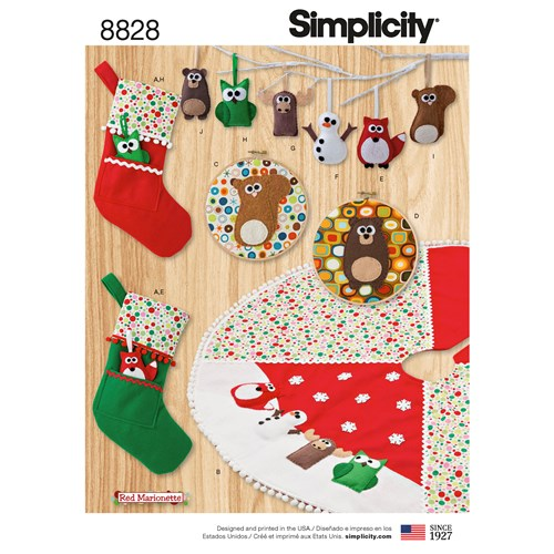 Simplicity 8828 Jul - Christmas decorations