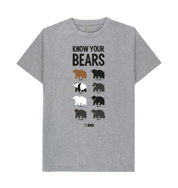 Athletic Grey 'Know your Bears' t-shirt