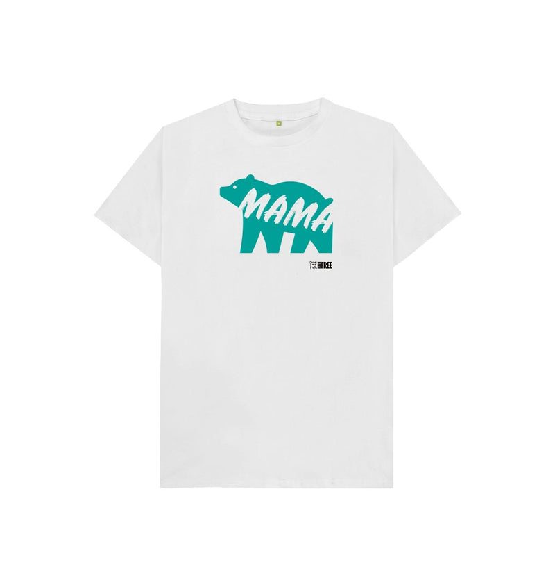 White 'Mama Bear' - kids t-shirt