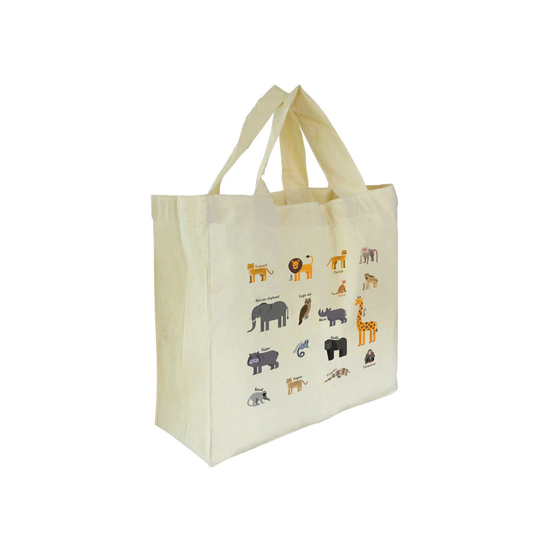 Mini tote bag – multi-animal