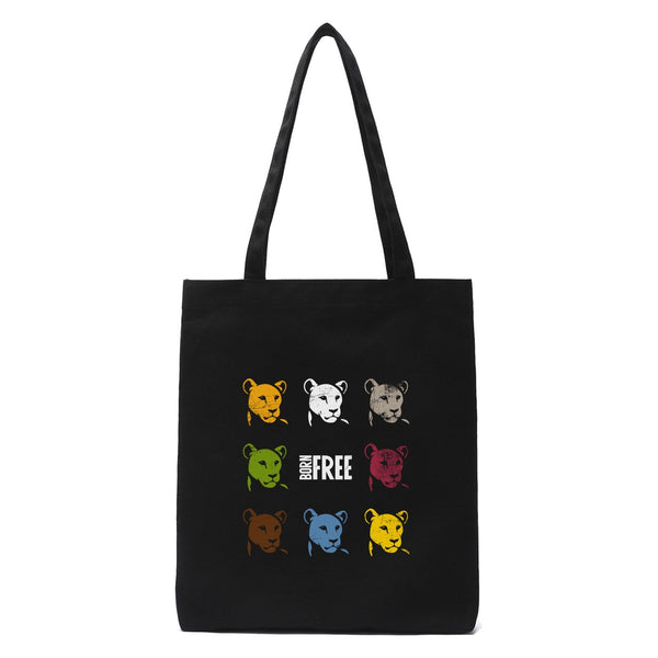 Elsa in colour organic tote bag