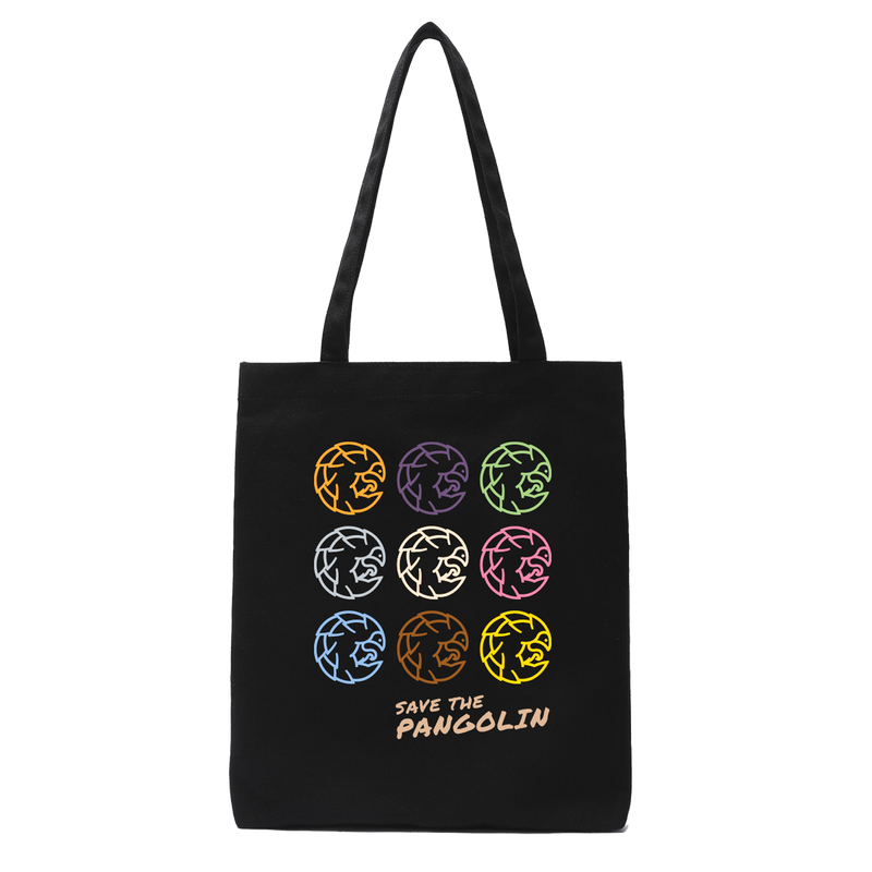 Save the Pangolin tote bag