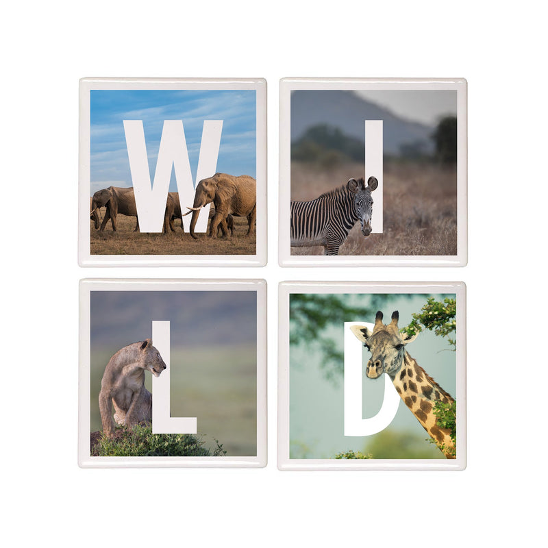 'WILD' coasters – Pack of 4
