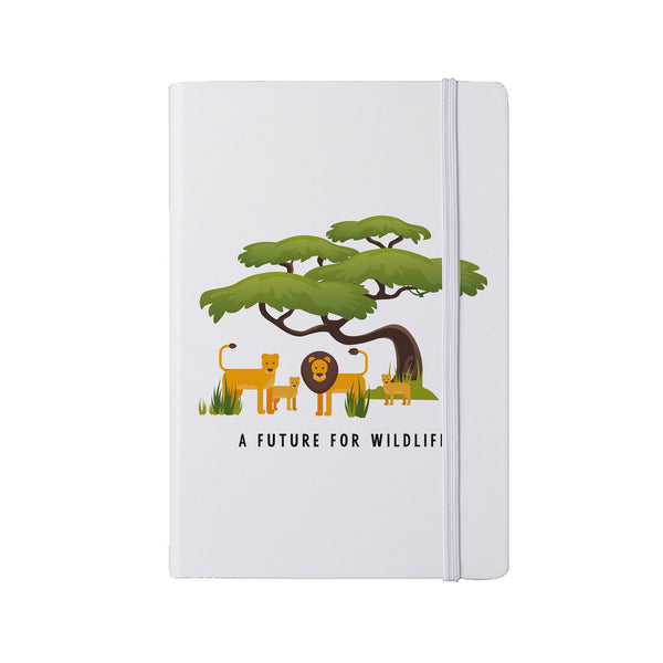 'A Future for Wildlife' A5 notepad – Lion family