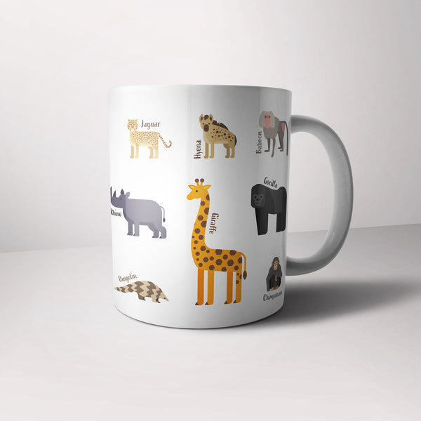 Kids Dinky Durham mug – Multi-animal