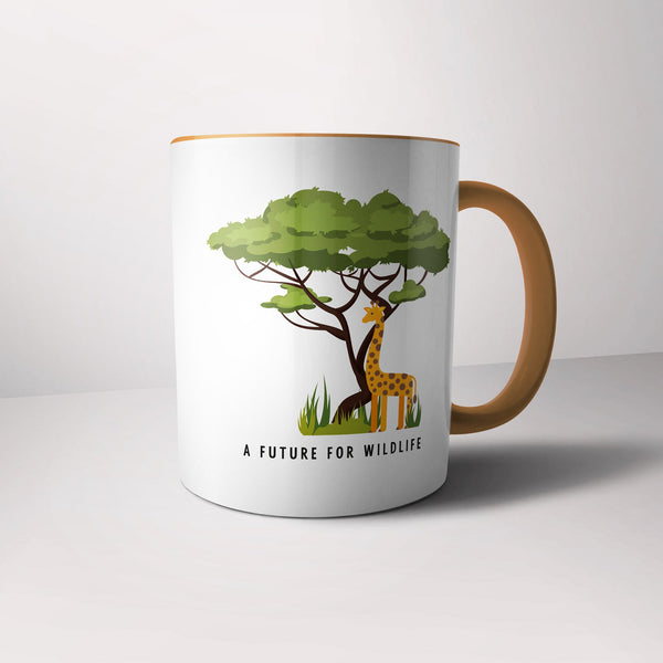 'A Future for Wildlife' giraffe mug