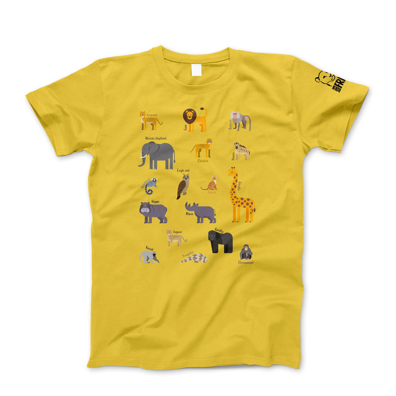 Children's multi-animal t-shirt