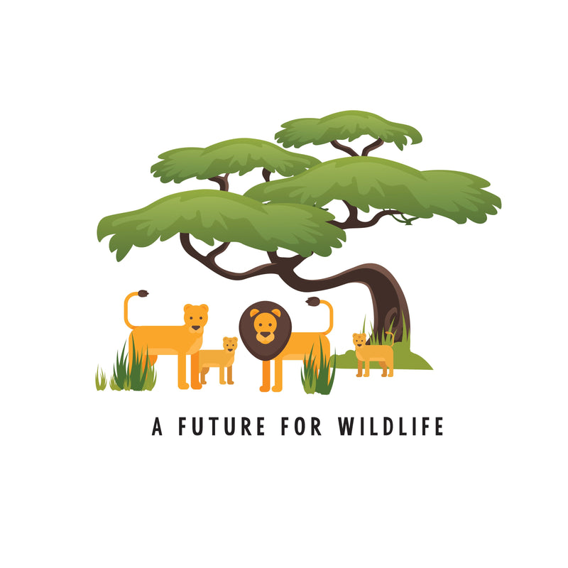 Children's 'A Future for Wildlife' t-shirt – Lion family
