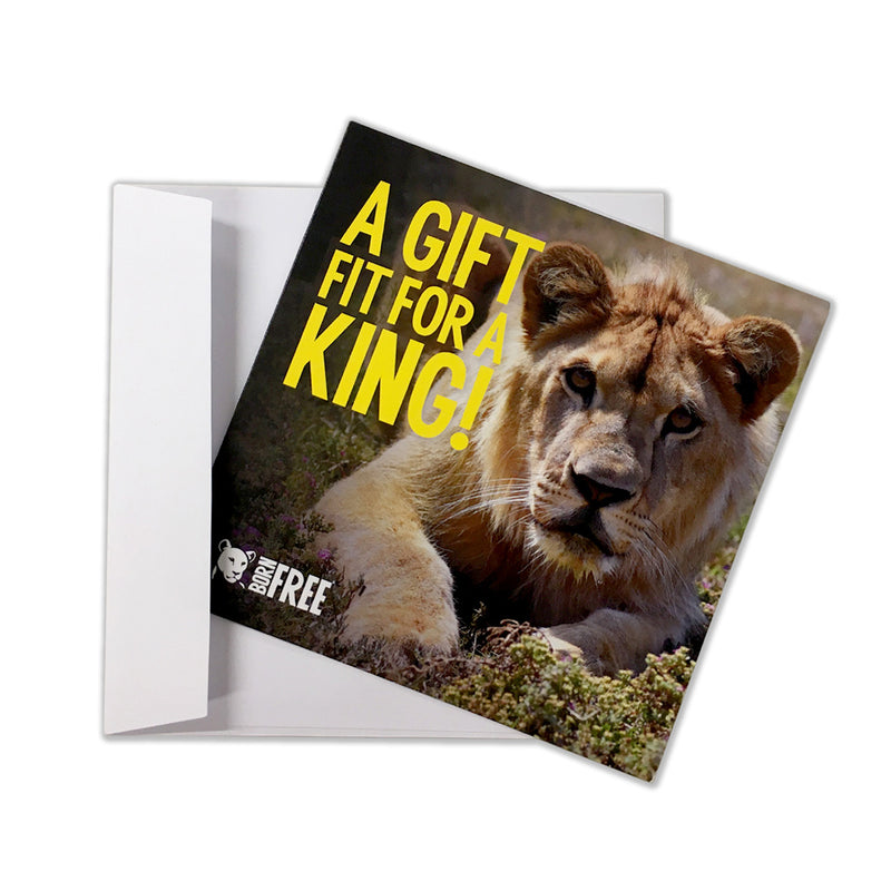 'Virtual gift' card – A gift fit for a King