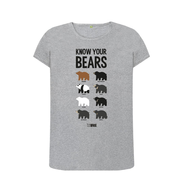 Athletic Grey Know your Bears - Womens fit t-shirt