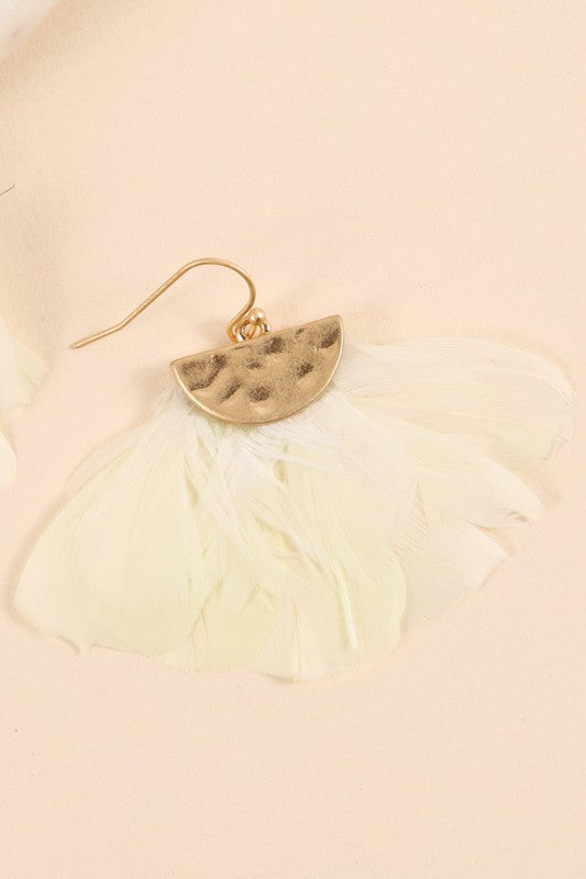 Feather Earrings (Ivory)