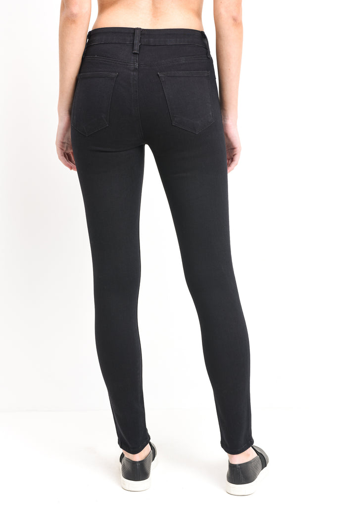 Just Black Knee Slit Overdye Skinny Jeans
