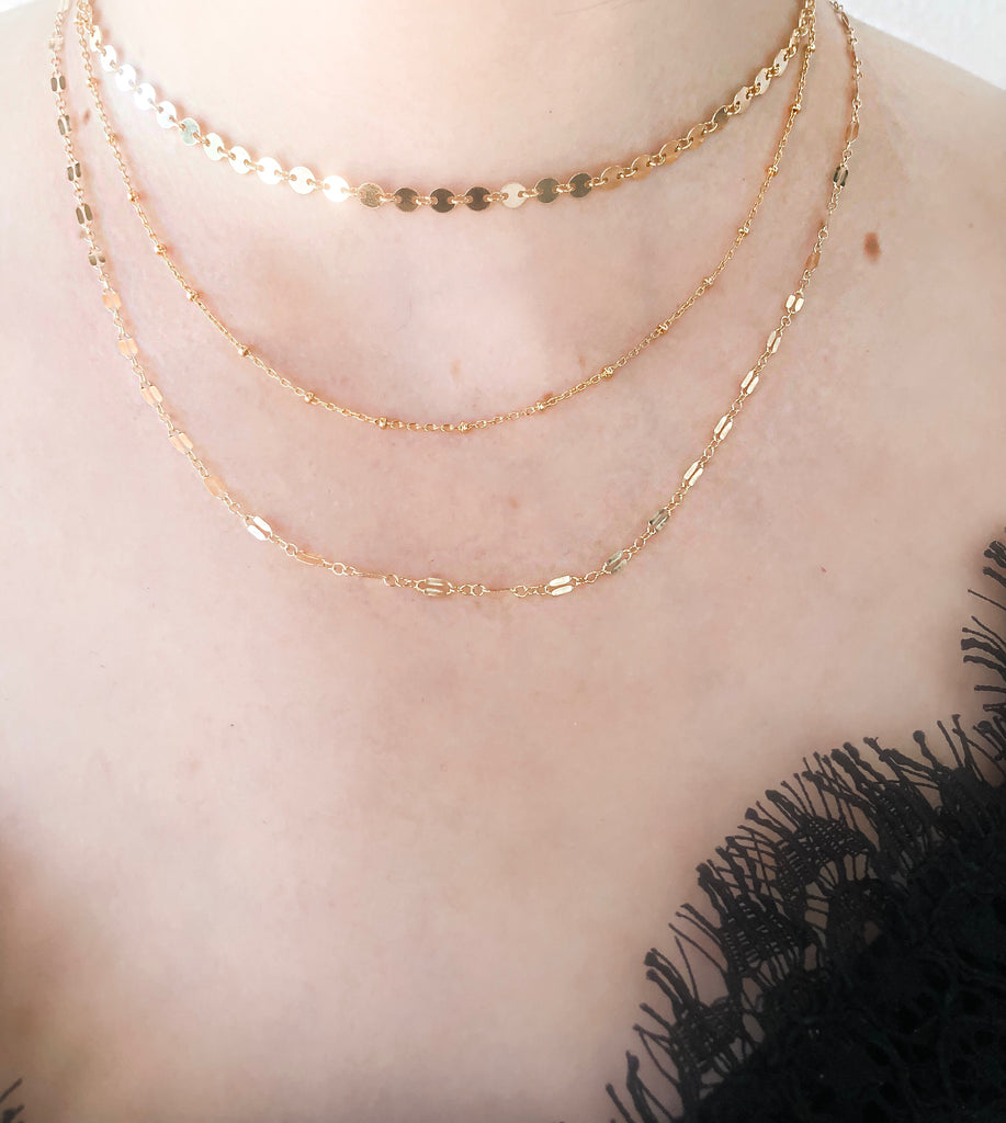 "Gold Filled Circle Choker (14"")"