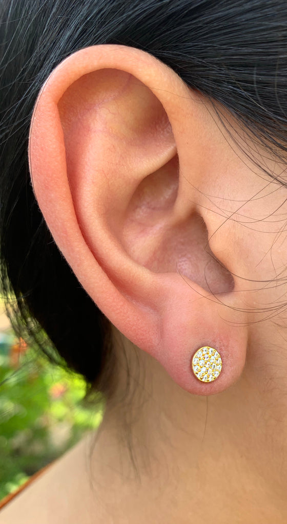 Gold Filled Round Stud Earring
