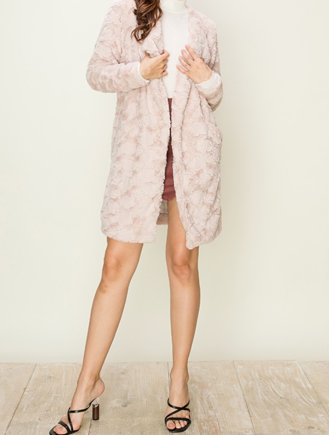Faux Fur Blazer Coat