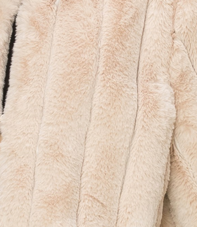 Mid Length Faux Fur Coat