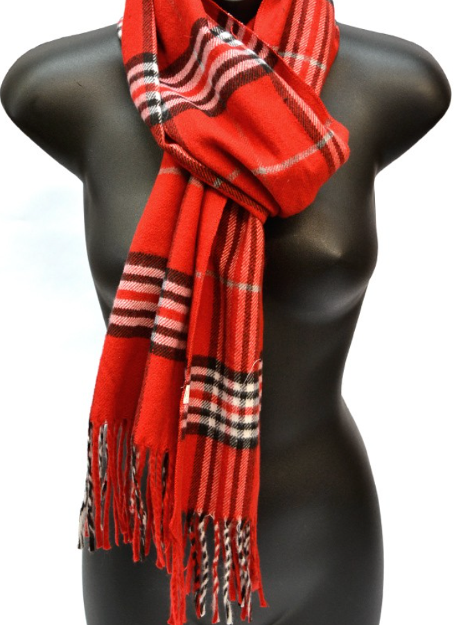 Red Cashmere Feel Scarf