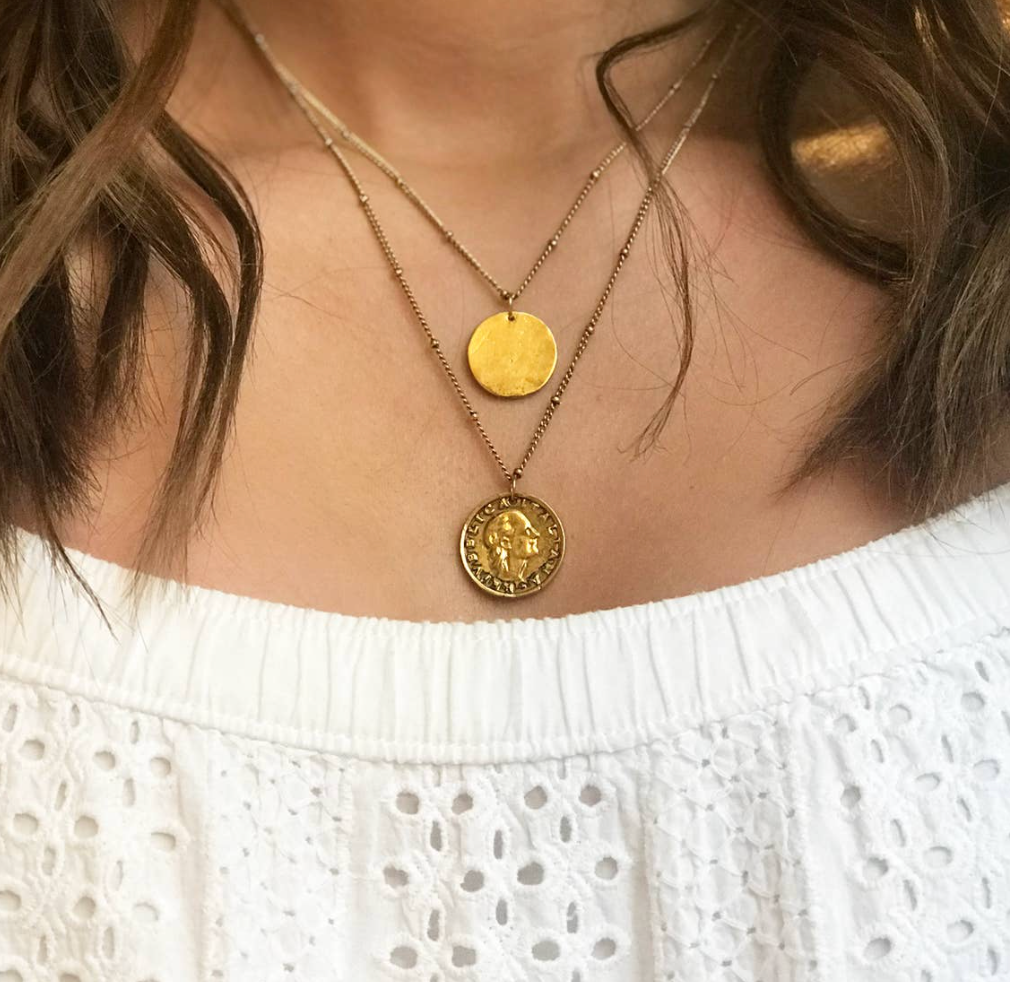 Layered Vintage Coin Necklace