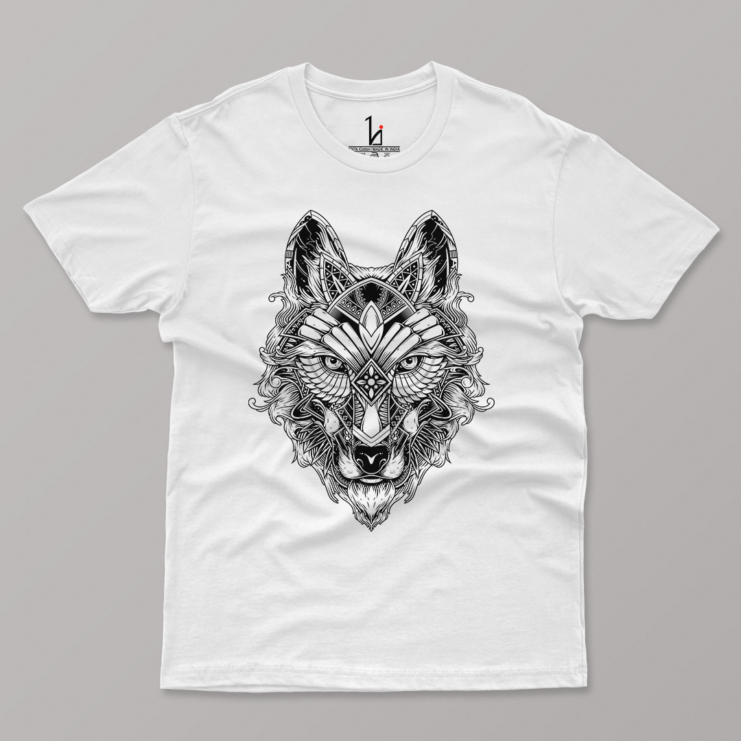 Hunter Wolf Half Sleeve T-shirt - HIJIBIZI