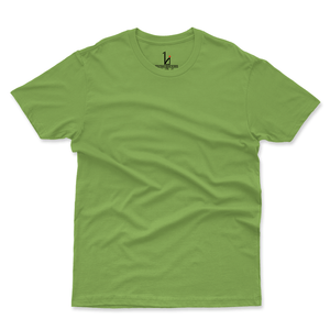 Pista Green Half Sleeves Basic T-shirt - HIJIBIZI