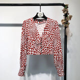 Cropped blouse with hearts kpop style - SD-style-shop