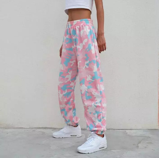 Pink Camouflage Sweatpants - SD-style-shop