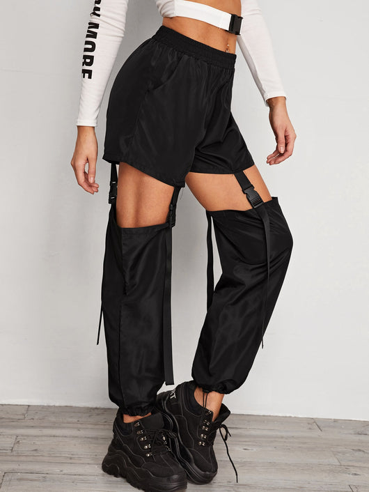 Pants with Buckle Straps - kpop style - SD-style-shop