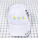 TXT baseball cap with rings and chains - SD-style-shop