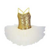 Ballet leotard with tutu and glitters. - SD-style-shop