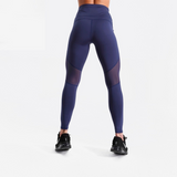 Blue Fitness leggings with mesh inserts - SD-style-shop