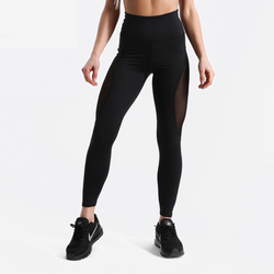 Black fitness leggings with mesh inserts - SD-style-shop