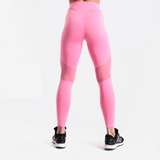 Pink Fitness leggings with mesh inserts - SD-style-shop