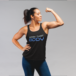 Work that body fitness Flowy Racerback Tank - SD-style-shop