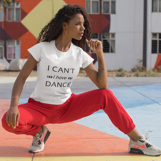 I can't I have Dance white T-shirt - SD-style-shop