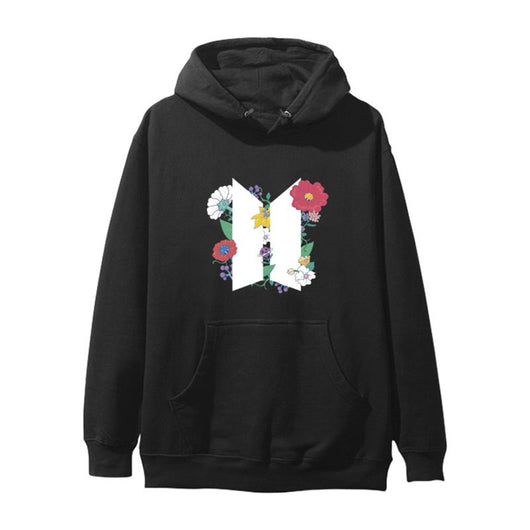 BTS 2020 logo + flowers hoodie sweatshirt - SD-style-shop
