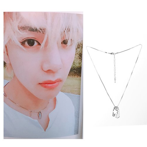 BTS V charms necklace